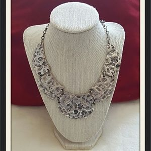 TEXTURED SILVER STATEMENT COLLAR BY CHICO'S